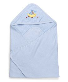 Mee Mee Hooded Bath Towel Ship Embroidery - Blue