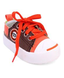 Cute Walk by Babyhug Canvas Shoes 33 Fashion Classic Print - Coffee Orange