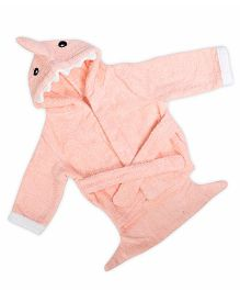 Baby Oodles Infant Bathrobe Shark Shaped - Peach