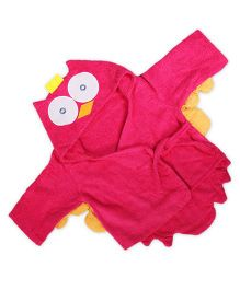 Baby Oodles Infant Bathrobe Owl Shaped - Pink