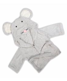 Baby Oodles Infant Bathrobe Mouse Shaped - Grey