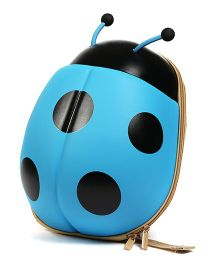 Baby Oodles 3D Backpack Ladybug Shaped Blue - 11.8 inch