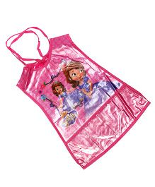 Baby Oodles Jacket Style Apron Princess Sofia Print - Pink