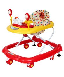 EZ' Playmates Musical Walker Polka Dots Printed - White Red