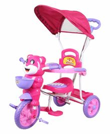 HLX-NMC Happy Tiger Kids Rocking Tricycle - Pink Purple