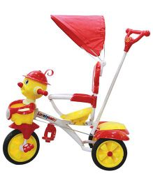 EZ Playmates Joker Face Tricycle - Red Yellow
