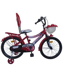 Cosmic Force Bicycle With Trainer Wheel - Red