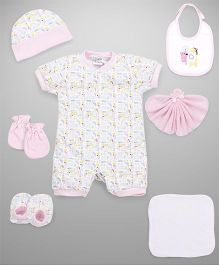 Mee Mee Clothing Gift Set Pack Of 8 - Pink White