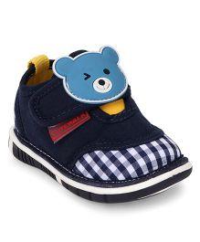Cute Walk by Babyhug Casual Shoes Bear Applique - Navy