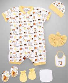 Mee Mee Clothing Gift Set Pack Of 8 - Yellow White