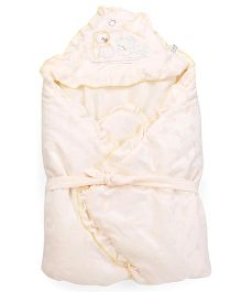 Mee Mee Hooded Swaddle Wrapper - Cream