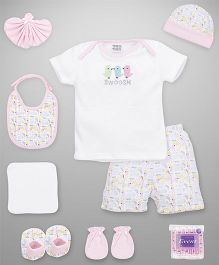 Mee Mee Clothing Gift Set Pack Of 9 - Pink