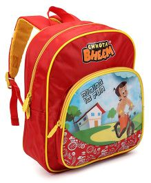 Chhota Bheem School Bag Red Yellow - 12 Inches