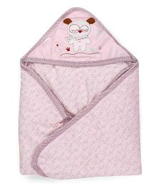 1st Step Baby Wrapper Mouse Embroidery - Pink