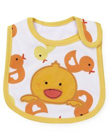 1st Step Velcro Closure Bib Duck Embroidery - Yellow Orange