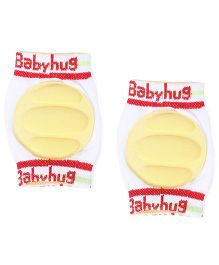 Babyhug Baby Knee Pads - Yellow White