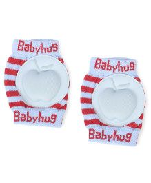 Babyhug Baby Knee Pad Apple Design - Blue