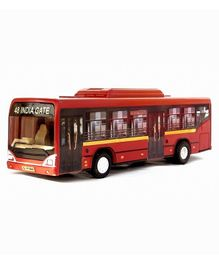 Centy Pull Back Low Floor Toy Bus - Red