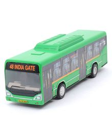 Centy Pull Back Low Floor Toy Bus - Green