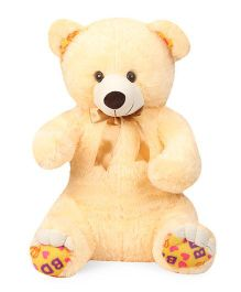 Liviya Teddy Bear Soft Toy With Neck Bow Tie Cream - 68 cm