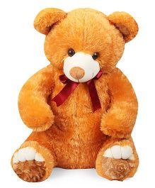 Liviya Teddy Bear Soft Toy With Neck Bow Tie Brown - 68 cm