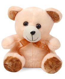 Liviya Teddy Bear Soft Toy With Neck Bow Tie Cream & Brown - 27 cm