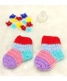 Magic Needles Panelled Socks - Multicolor