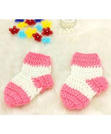 Magic Needles Contrast Socks - Pink