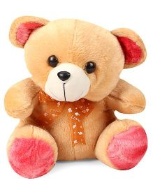 Liviya Teddy Bear Soft Toy With Neck Bow Tie Brown - Height 27 cm