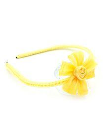 Magic Needles Handmade Flower Hairband - Yellow