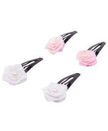 Daizy Combo Of 2 Tik Tak Clips - Pink & White