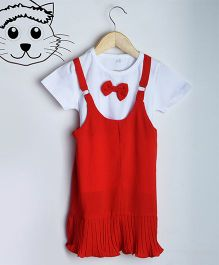 Aww Hunnie Summer Dress With Inner - Red
