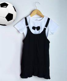 Aww Hunnie Summer Dress With Inner - Black