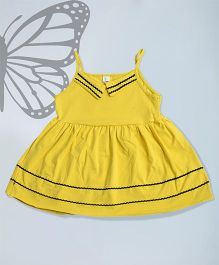 Aww Hunnie Singlet Summer Dress - Yellow