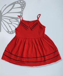 Aww Hunnie Singlet Summer Dress - Red