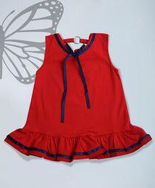 Aww Hunnie Cute Top With Back Design - Red