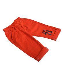 Aww Hunnie Music Lover Print Pants - Red