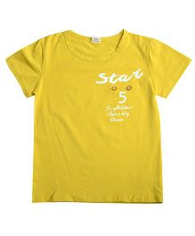 Aww Hunnie Front Pocket Tee - Yellow