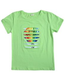 Aww Hunnie Hot Air Balloon Print Tee - Green