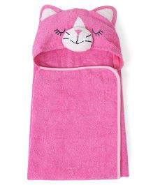 Babyhug Hooded Towel Kitty Design - Pink