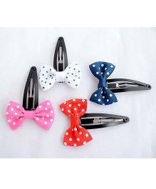 Pretty Ponytails Polka Dot Bow Clips - Multicolor