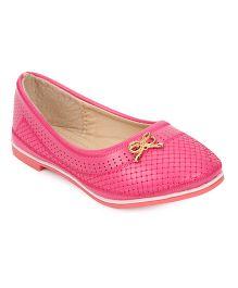 Cute Walk by Babyhug Ballerinas Bow Applique - Pink
