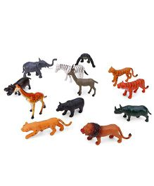 Playmate Wild Animal Set of 12 - Multi Color