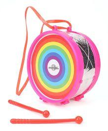 Speedage Musical Drum With Two Sticks - Pink