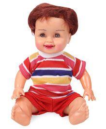 Speedage Mannu Sitting Doll - Red & Multi Color