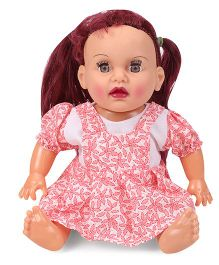 Speedage Tannu Sitting Doll - Pink & White