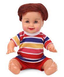 Speedage Mannu Sitting Doll - Red