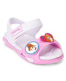 Disney Sandals With Back Strap & Velcro Closure - White