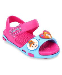 Disney Sandals With Back Strap & Velcro Closure - Pink