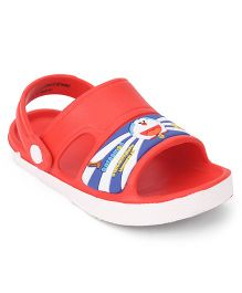 Doraemon  Sandals With Back Strap - Red